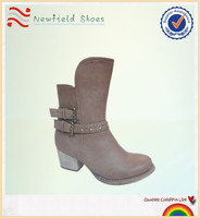 2014 fashion wholesale woman ankle boots high heel lady rubber boot