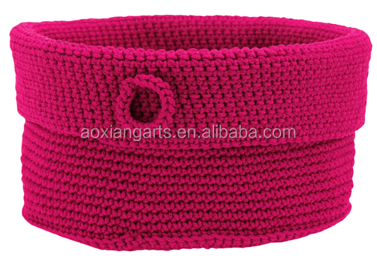 High Quality Knitted Cotton Rope Cords Baskets for Storage