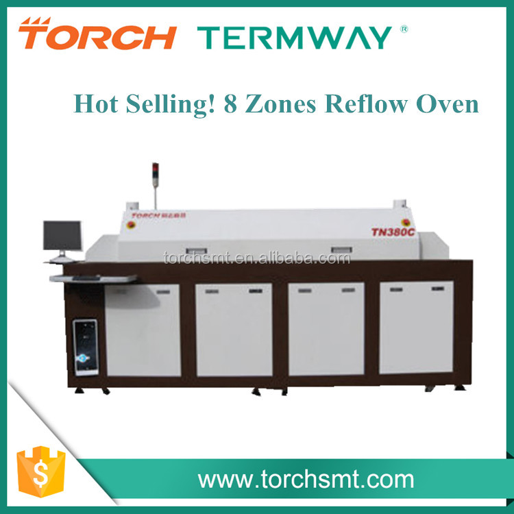 Torch High Cost Effective 8 Heating Zones PCB Conveyor Reflow Oven TN380C