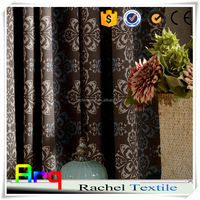 full leaf print dark color fancy curtain fabrics for hotel home using- Egyptian polyester cotton