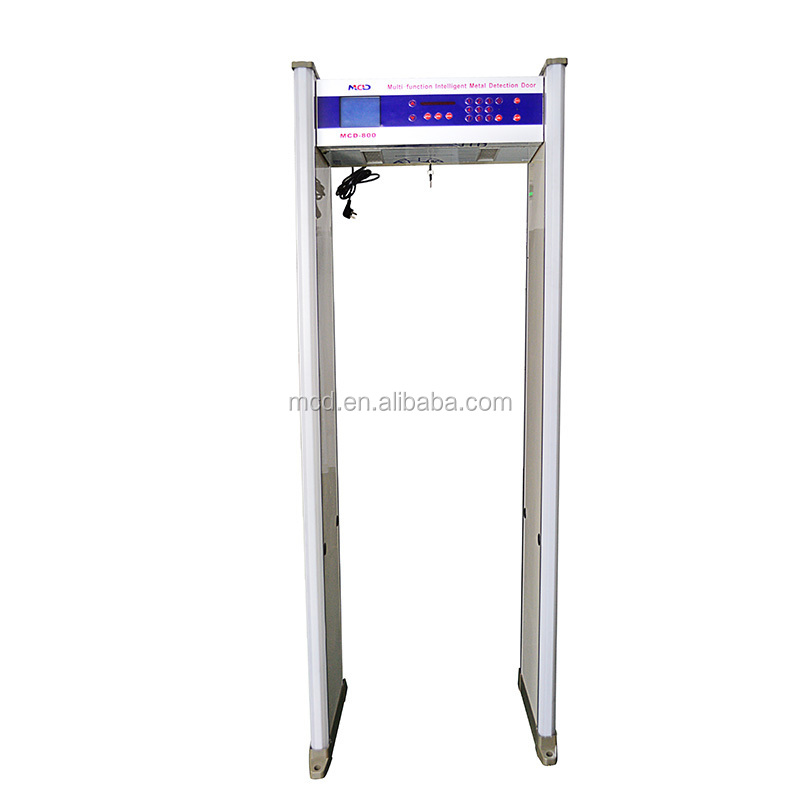 Security 8 zones walk through gate security alarm system Body Scanning Machine