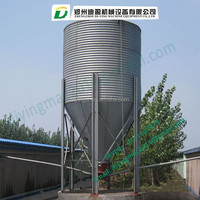 fiber glass feeding bin or silo for filling system poultry equipment/Fiberglass Poultry Feed Bins
