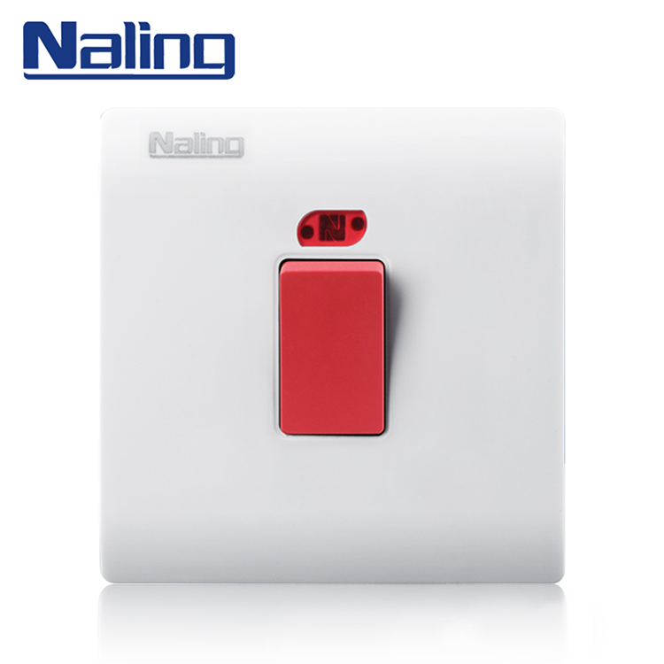 Naling The Most Popular Products High Strength PC 1 Gang Water Heater Electric Wall Switch