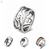 Silver Gay Promise Wedding Rings For Men, Stainless Steel Silver Gay Men Ring