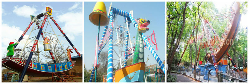 Happy and Thill Amusement park rides Pirate Ship theme park rides for sale