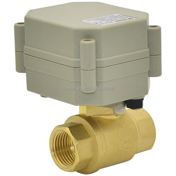Low Working Current 1/2'' Brass Motorized Ball valve For Water Saving Irrigation(T15-B2-A)