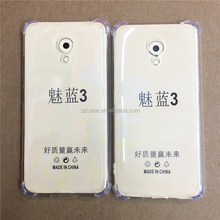 Transparent shockproof tpu case for meizu meilan 3 case,clear tpu shockproof case for meilan 3
