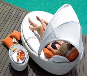 round wicker outdoor rattan daybed