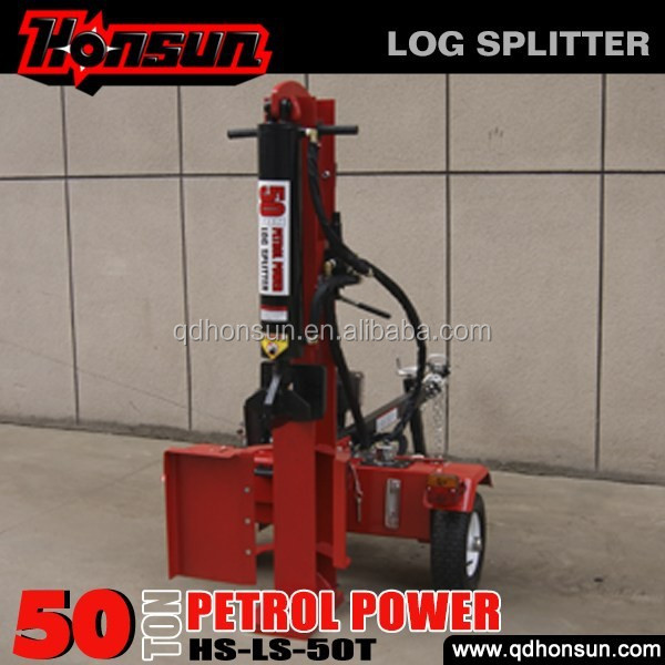 Germany Hanover exhibited CE certificate electric start Honda motor 50 ton log splitter and saw machine