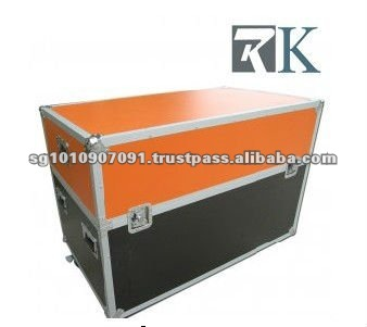 RK plasma tv flight cases- Case for Dual Philips 47'' LCD7000 Series with Caster Board,Orange Top Lid