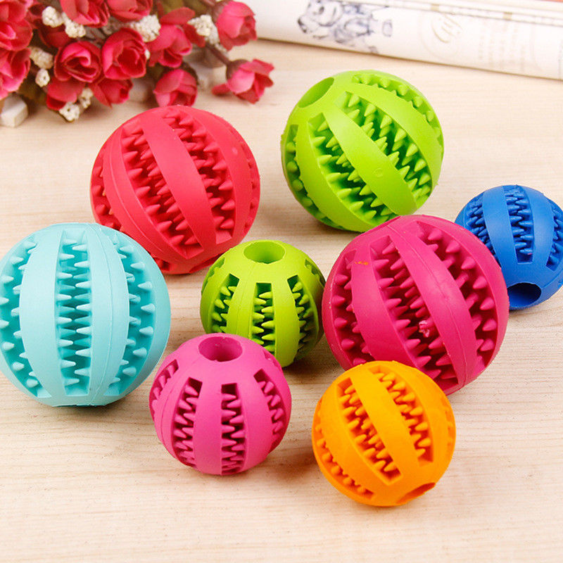 Eco-friendly Non Toxic Durable Pet Ball Chew Toy Soft Plastic Cat Dog Toy