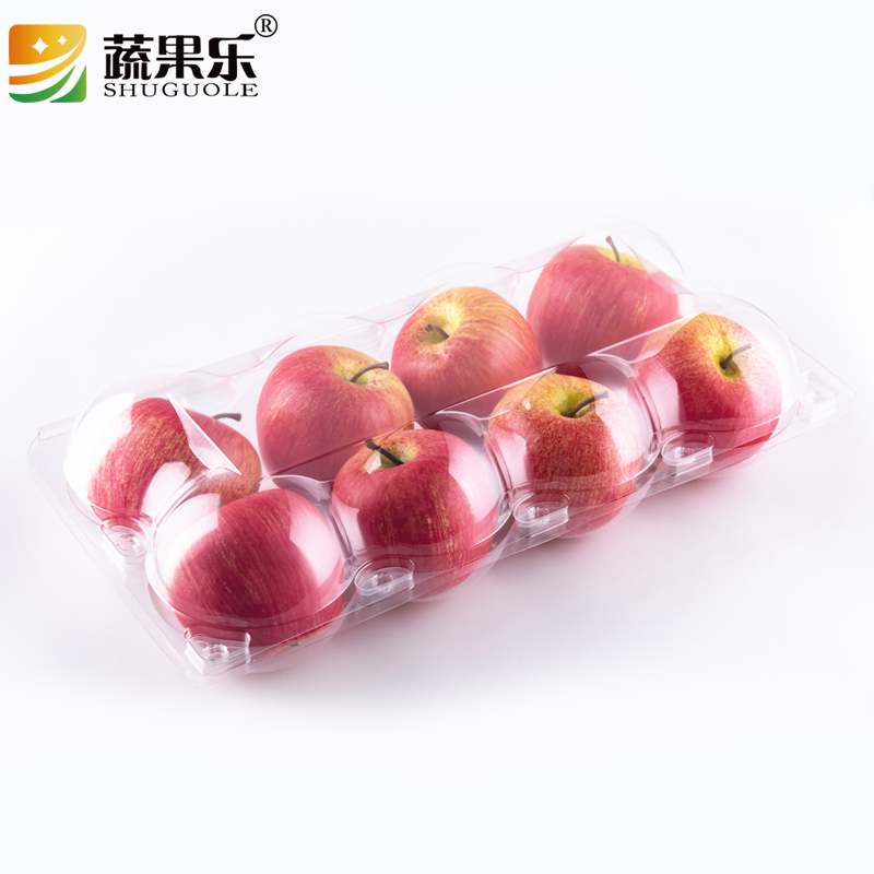 Disposable blister plastic 8pcs apple package