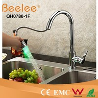 Professional China Sanitary Ware Kitchen Mixer Tap Chrome Led china pull out kitchen faucet