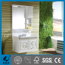 PVC bathroom wash basin cabinet luxury wall cabinet 8087