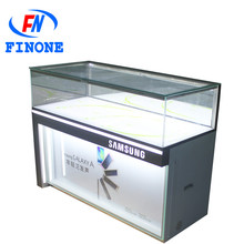 High quality OEM mobile phone display rack jewelry glass display counter mobile p