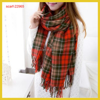 Women's Winter Stole Plaid Scarves Tippet Wraps Brand Ladies Scarf Women Classic Neckerchief Shawls and Scarves 200*62cm