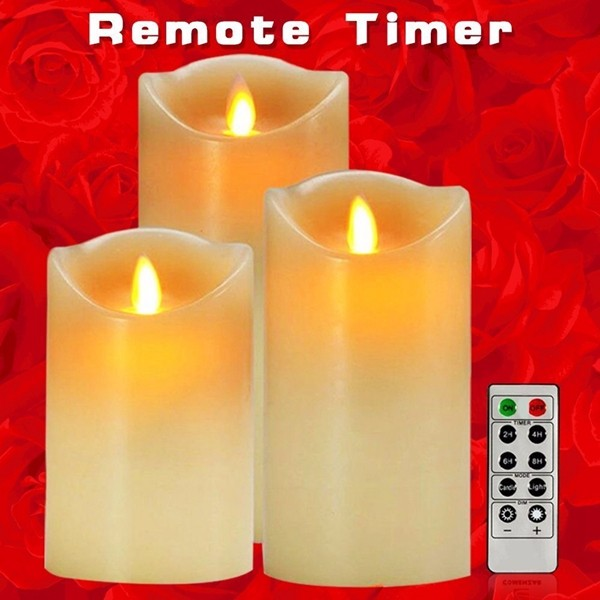 2016 battery operated dimmable led electric candle light