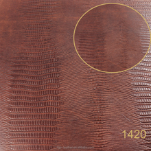 high quality fish pattern embossed genuine skin leather for handicraft
