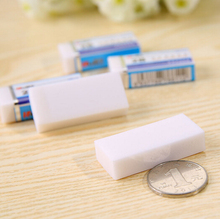 Professional office White Promotional eraser for school students Pencil customized rubber eraser