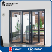 ROGENILAN 75 series cheap tempered lowes glass interior folding doors