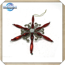 Wholesale High Quality Glass And Plastic Christmas Metal Snowflake Ornament