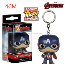 Hot sale cute keychain Funko POP Captain America Anime Figure Keychain