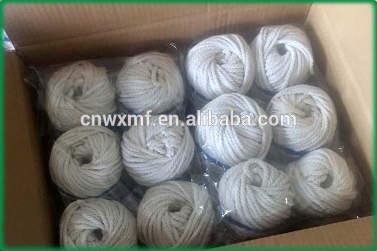 4mm x 100m white natural cotton rope for home decoration