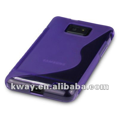 For Samsung Galaxy S2 II i9100 S Shape Anti-Slip TPU Skin Soft Case Cover KSL212