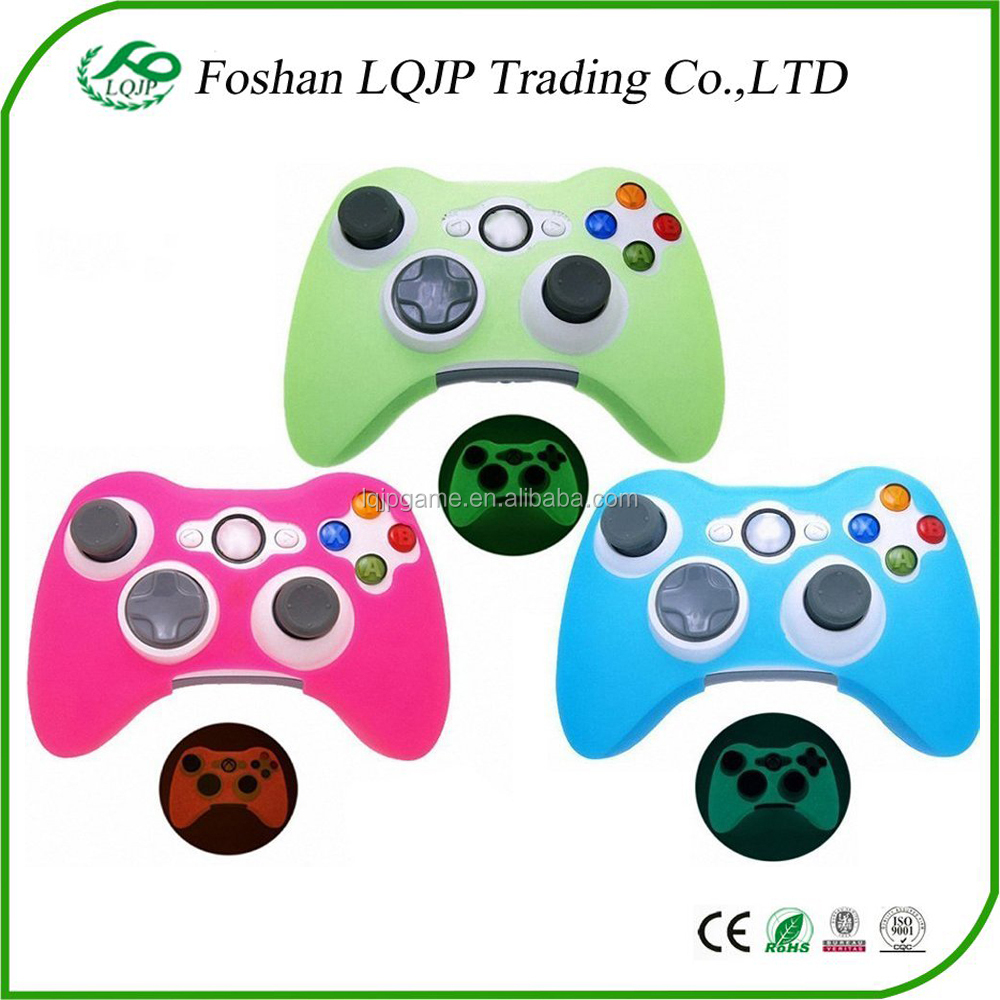 for xbox360 Silicone Case Skin Cover Glow in Dark for Xbox 360 Controller Silicone Skin Protective Case Cover Red Blue Green