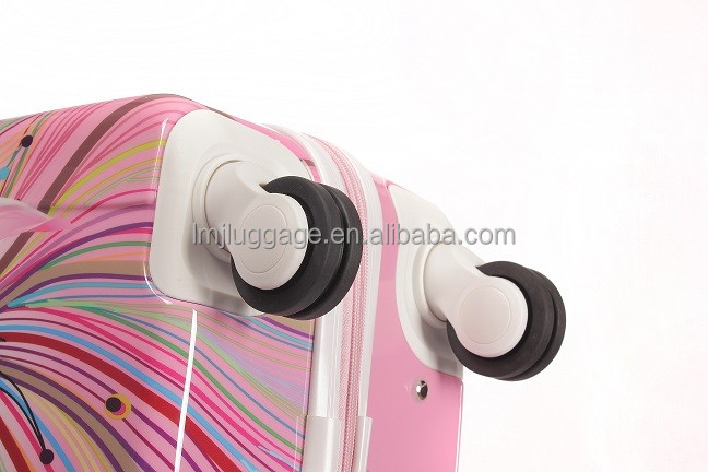 Hot selling personality abs material trolley luggage bag printed suitcases china cheap wheeled travel luggage in stock