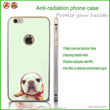 Lovely dog phone case with anti-radiation phone cover plastic funny
