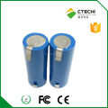 Li-ion battery with pins 18650 3.7v cylindrical cell