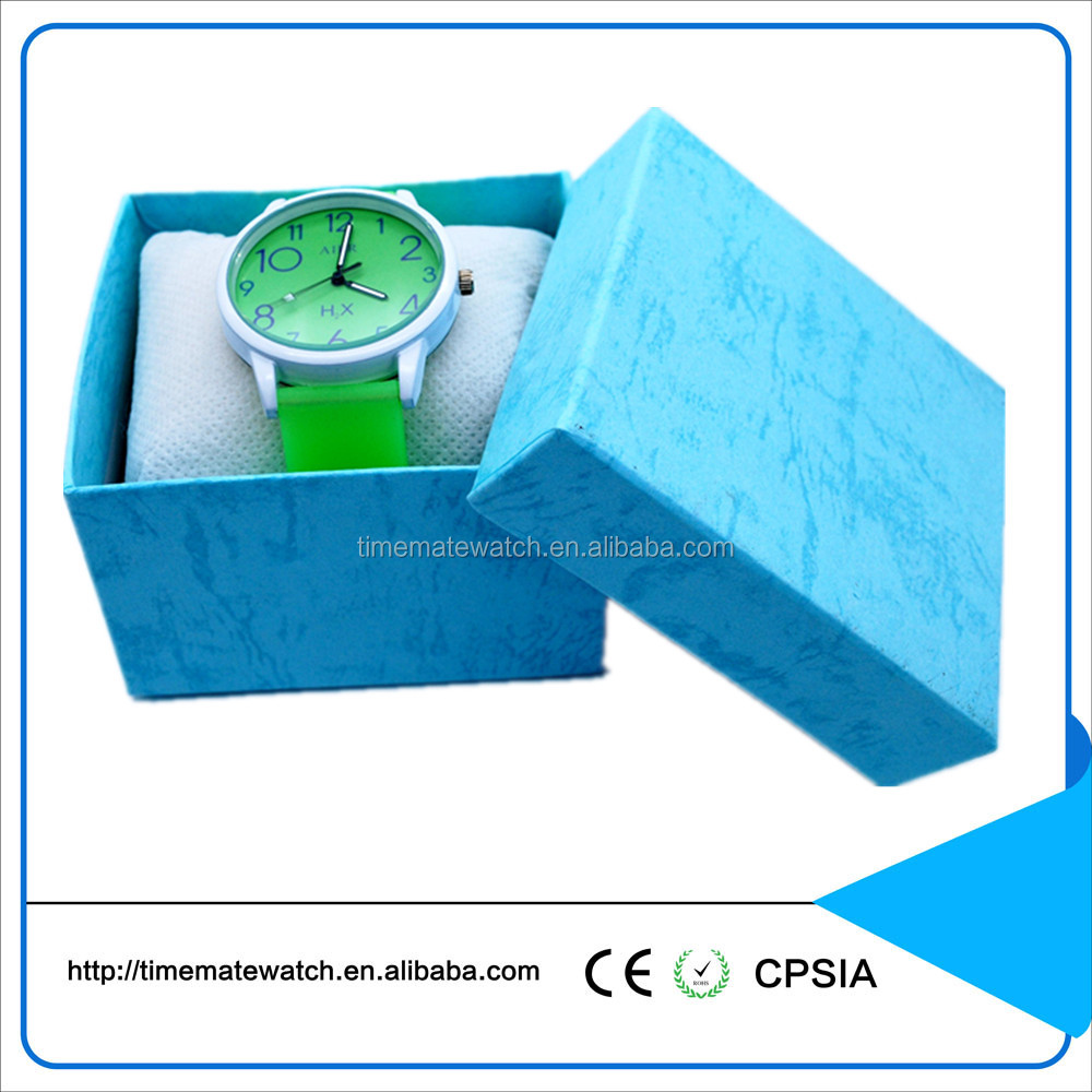 Customized quartz christmas gifts silicone colorful strap watch
