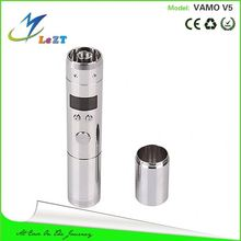 2014 Morecig latest variable voltage mod vamo v5 e6 glass vaporizer vgo/ego electronic cigarette