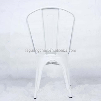 Modern style white metal vintage commercial furniture stacking chairs for banquet restaurant