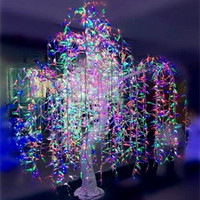 Led park color changing led weeping willow tree lighting for holiday decoration