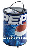 Pepsi Rolling barrel cooler with glass lid