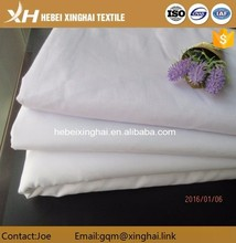 "Polyester cotton fabric manufacturer T/C 65/35 45X45 110X76 POPLIN 58""/58"" bleached FABRIC"