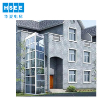 Hsee high quality home lift with elevator swing door