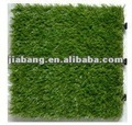 Interlocking PE plastic tiles with artificial grass