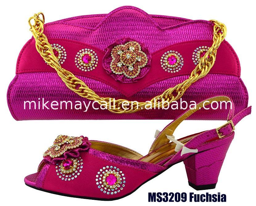 peach,red,royal blue gold shoes and bag purple color matching Size 38 to 43