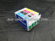 Refillable ink cartridge for Epson XP-306, with auto reset chip, no need battery