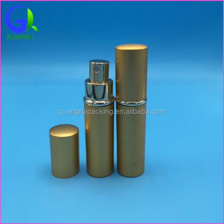 aluminium perfume bottle glass tube cosmetic packaging grx001