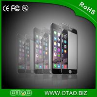 New on wholesale! 0.33mm anti-crack 9H 3D OTAO tempered glass srcreen protector curved for iphone 6/6 plus