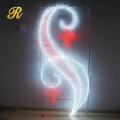 Metal 2d led motif light for christmas pole decoration