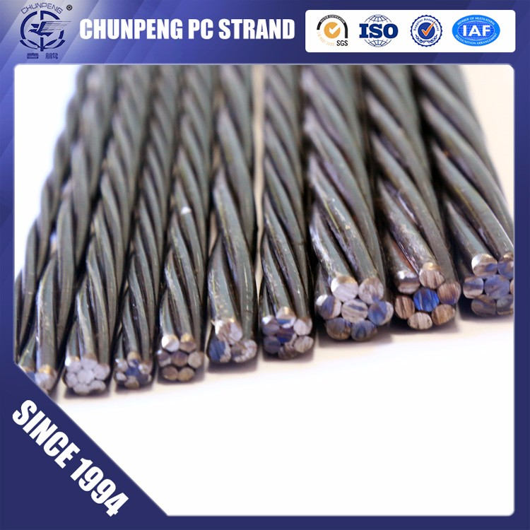 Chunpeng 1*7 Wire 12.7 mm Prestressed Concrete Steel Strand