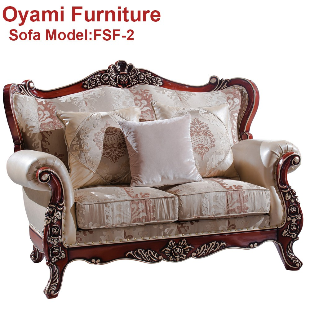 Strong and durable quality romantic style expensive sofa