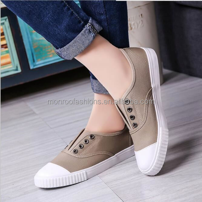 monroo 2014 new style women flat casual canvas shoes