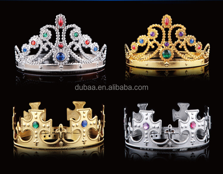 Halloween Party Tiaras and Crowns,King Crown and Queen Tiara 2015 DubaaFashion.com,Prince Crown and Princess Tiara