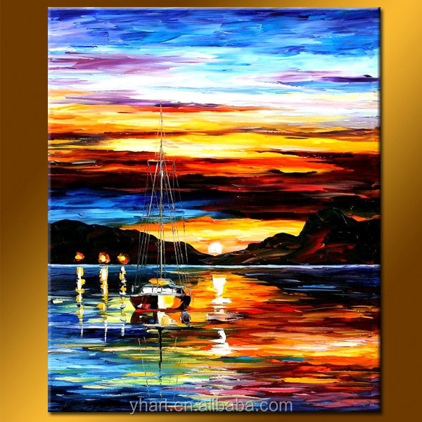 Hot Sell Newest Art Painting Handmade Paintings Sea And Ships
